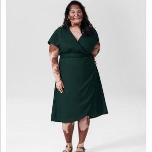 Universal Standard Tracy Linen Wrap Dress 12 XS